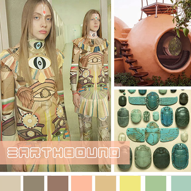 #DesignOptions SS18 color report on #WeConnectFashion, Women's markets mood:Earthbound.