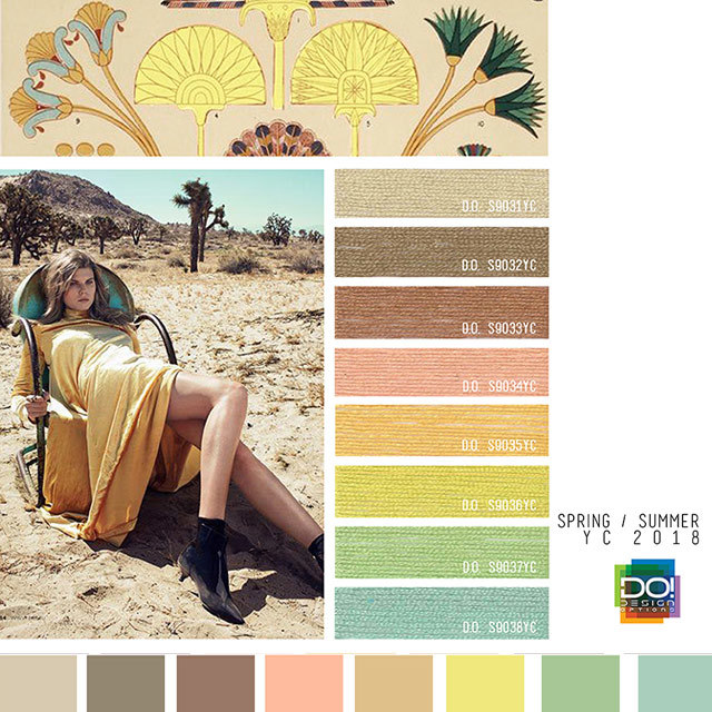 #DesignOptions SS18 color report on #WeConnectFashion, Women's markets  mood details:Earthbound, detail.