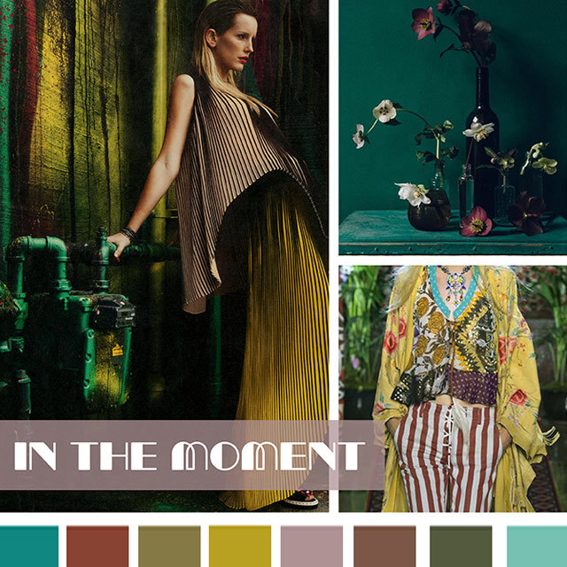 #DesignOptions SS18 color report on #WeConnectFashion, Women's markets mood: In The Moment.