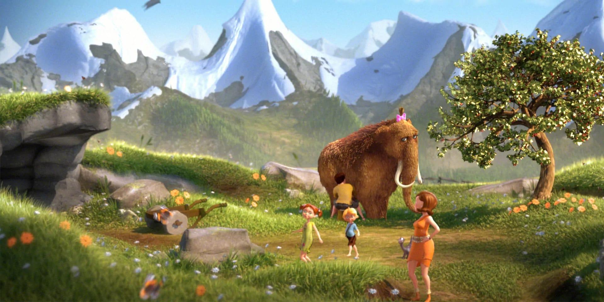 Mamut mit schöner Landschaft