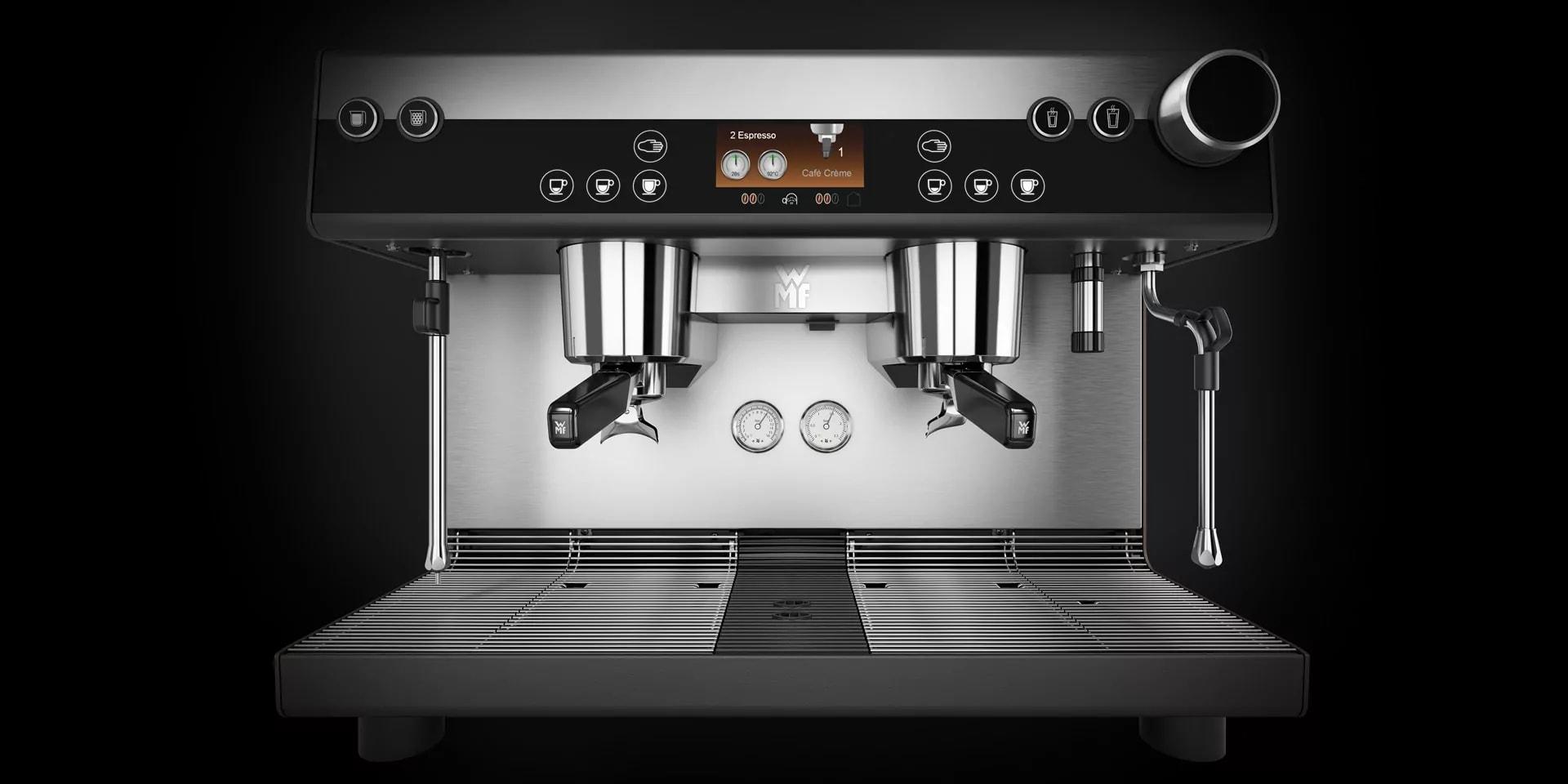 Kaffeeemaschine Frontale Sicht