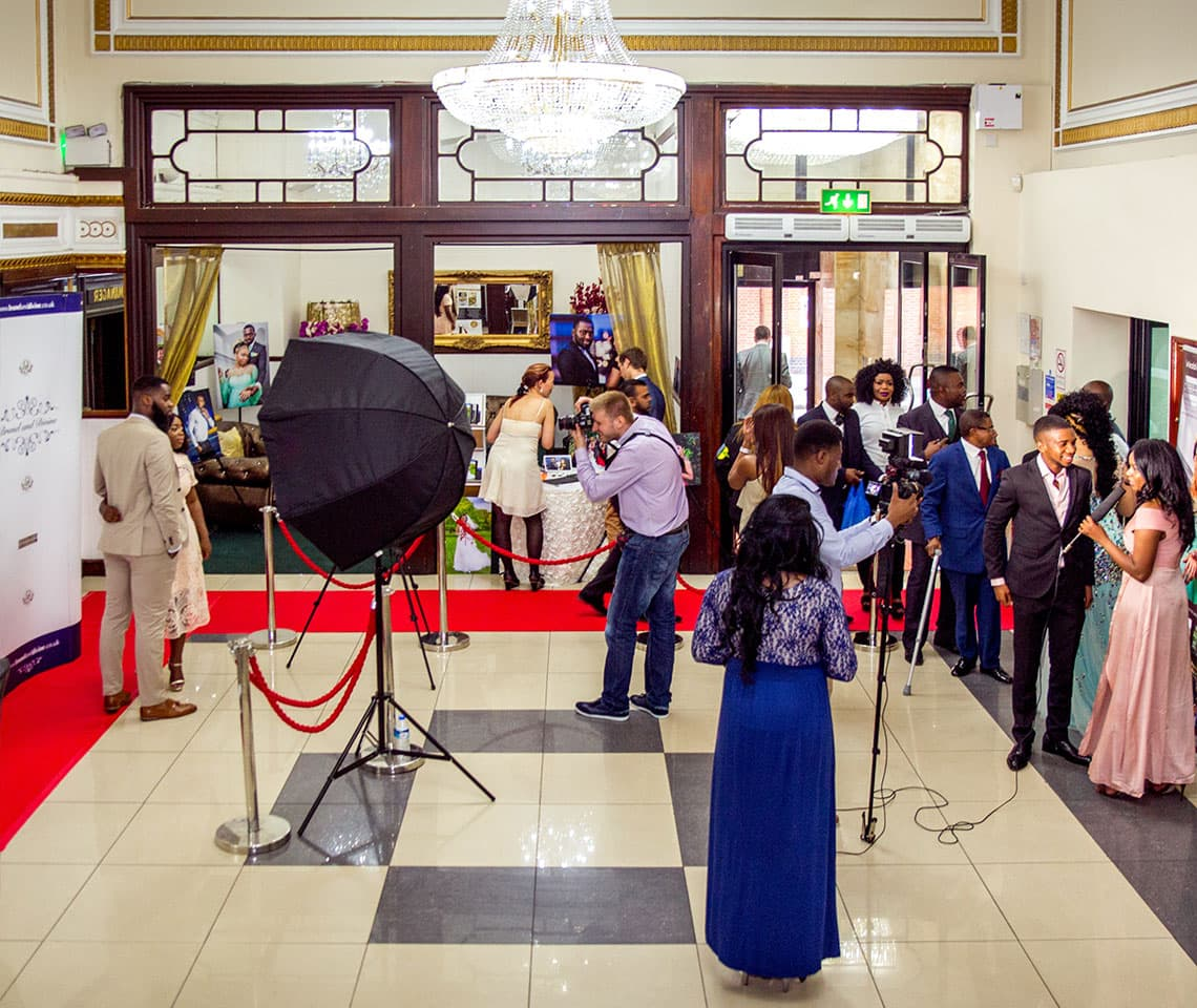 Red carpet and second shooter by Wedding Pixels