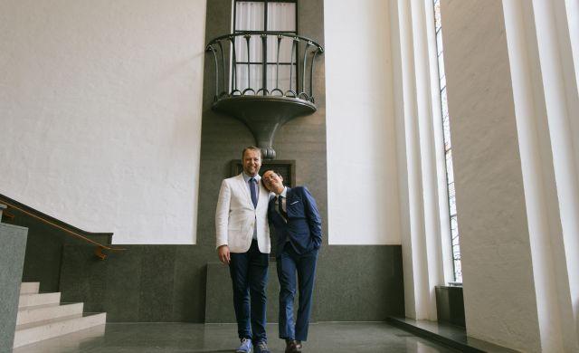 huwelijk Darren en Raymond