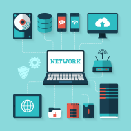 Computer network concept vector illustration