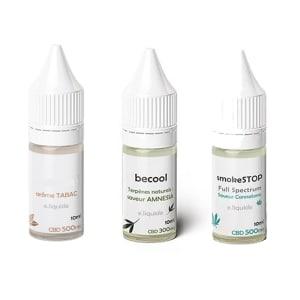 Pack E-liquides (Amesia, Tabac, Cannatonic)