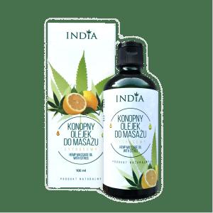 Huile de massage au CBD parfum agrumes
