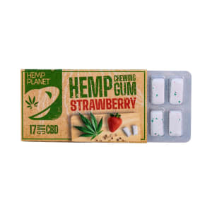 Chewing gum CBD fraise