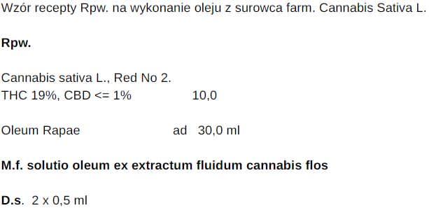 wzor recepty na olej