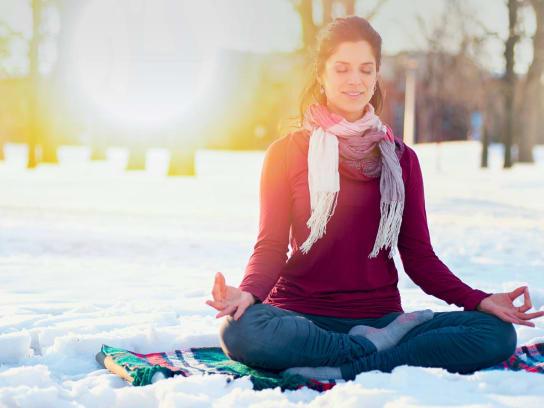 Yoga sur neige
