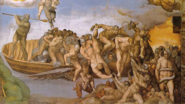 Caronte nel Giudizio Universale di Michelangelo