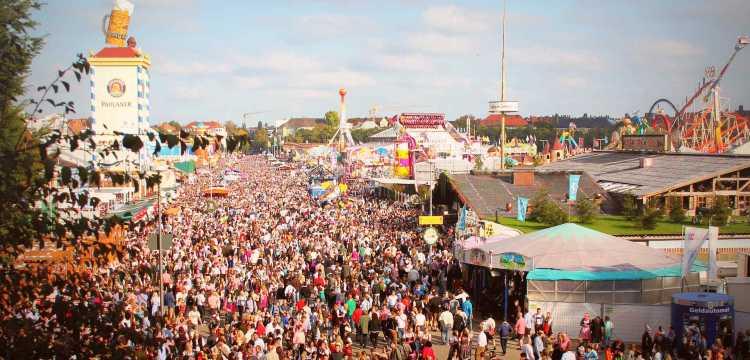 Het terrein van het Oktoberfest, München