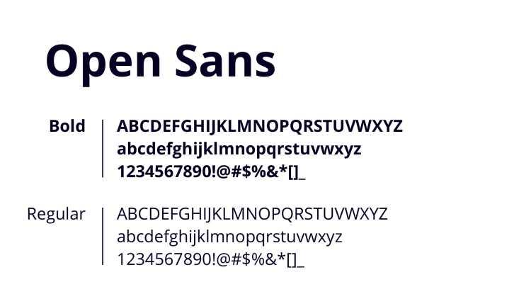 Nueva tipografia OpenSans