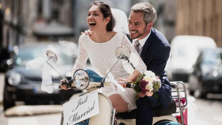 Huwelijksreis aan zee