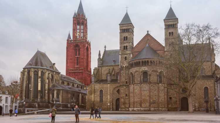 Het beroemde Vrijthof in Maastricht