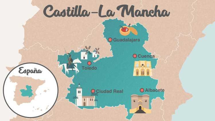Mapa Castilla-La Mancha