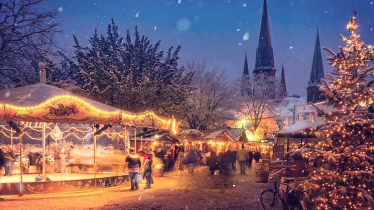 Kersttrip naar de kerstmarkt