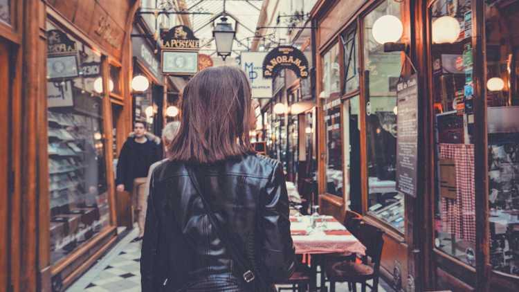 Passage des panoramas à Paris