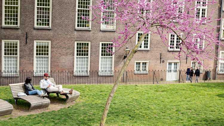 koppel in een park in Brugge