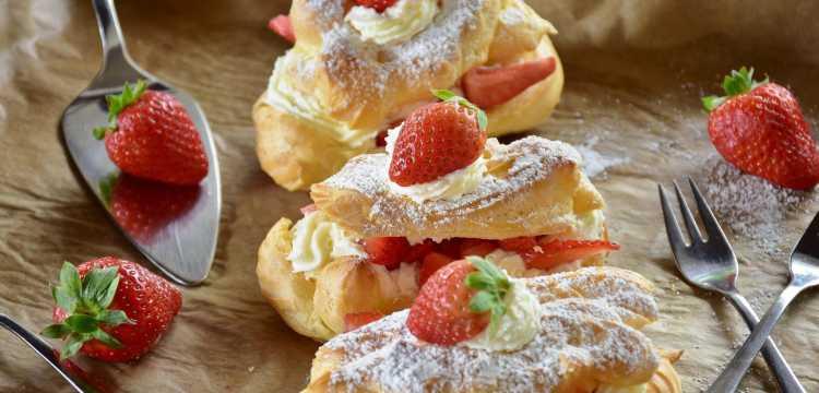 Desserts aux fraises