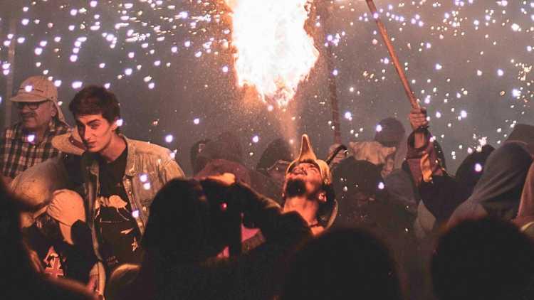 Una fiesta muy 'fogosa'