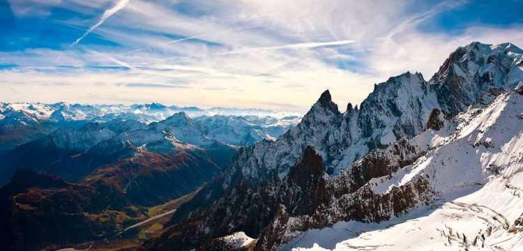 Vue de Chamonix Mont Blanc, Haute Savoie