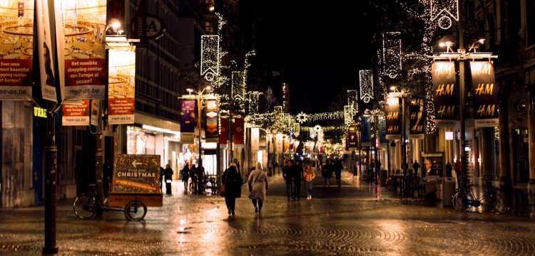 Kerstshoppen in Antwerpen op de Meir