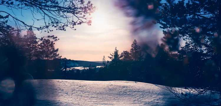 Belle vue à Rovaniemi, Finlande
