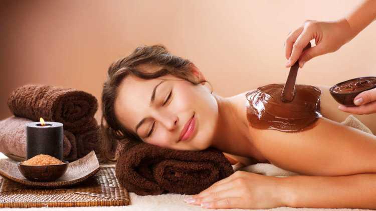 Masaje con chocolate