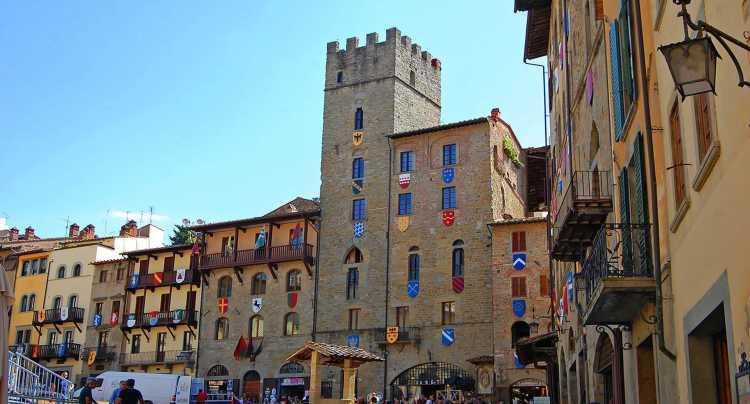 Il centro antico di Arezzo