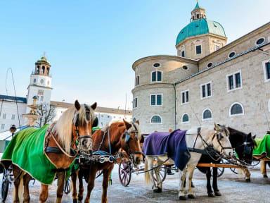 Residenzplatz à Salzbourg, Autriche
