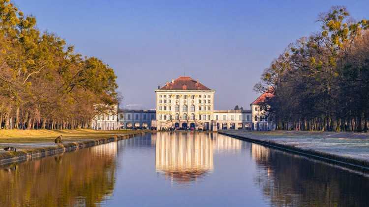 Paleis in het elegante München, Duitsland