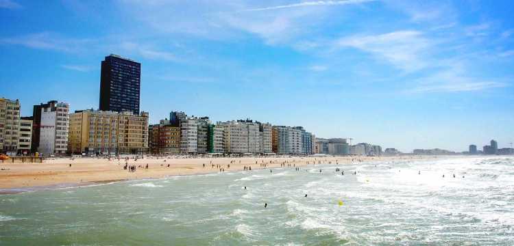 Strand von Ostende, Belgien