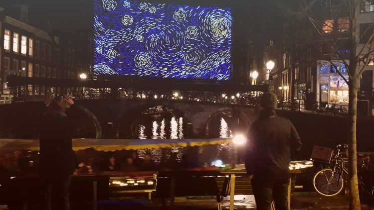 Amsterdam tijdens lichtfestival