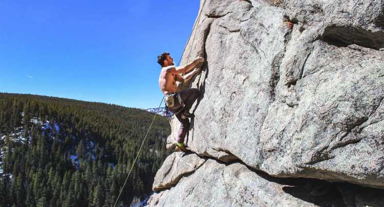 Escalade de rochers