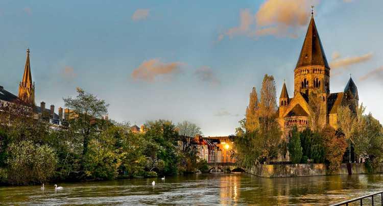 L'île de Saulcy à Metz