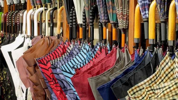 La fabrication de parapluies