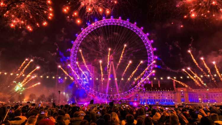 Nieuwjaar in Londen