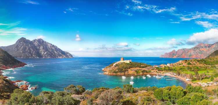 Photo de la Réserve Naturelle de Scandola en Corse