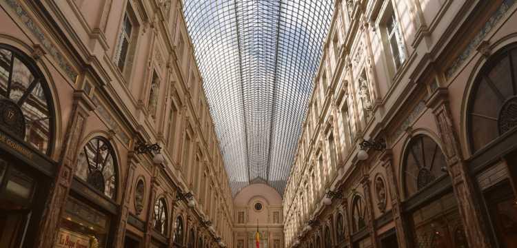 Monumentale galerie in Brussel.