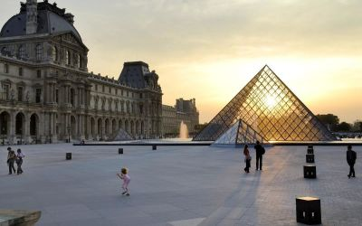 The majestic and iconic Louvre Museum