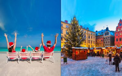 5 Festive Destinations to Celebrate the Merry Season (and 5 That Are Really Sunbathing Haven) — Sun or Snow for Your Year End Vacation?