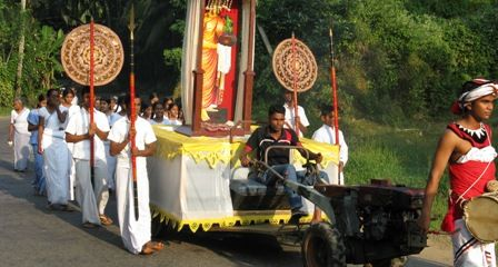 Sri Lanka roadside procession