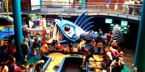 Ruang dasar aquarium yang banyak menjadi favorit banyak pengunjung. (FOTO: Ikhwan Musafir)