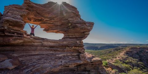 Celah tebing di kawasan Kalbari National Park. (FOTO: Greg Snell)