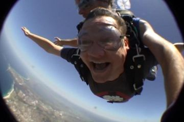 Dean sky diving