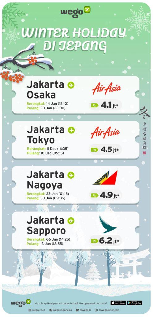Tiket Pesawat Murah Agustus 2019 untuk Liburan Musim Dingin di Jepang
