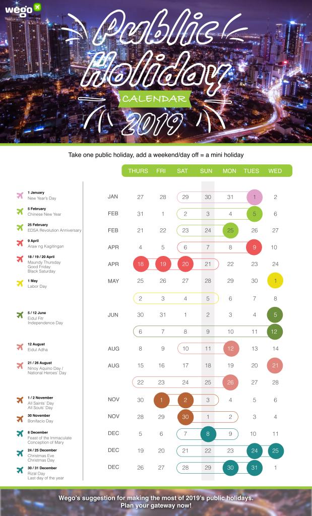 Wego 2019 Public Holiday Calendar