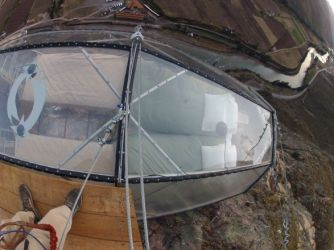 Sleeping with the condors in a see-through capsule