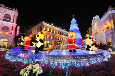 Macau lights up for Christmas, big time