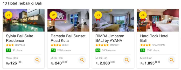 Rekomendasi Hotel di Bali